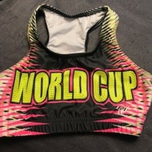 World Cup All Star Cheer Practice Sports Bra